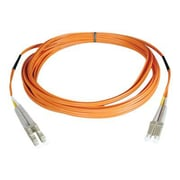 Tripp Lite N520-15M 15m LC/LC Male/Male 50/125 OM2 Duplex Multimode Fiber Optic Patch Cable, Orange