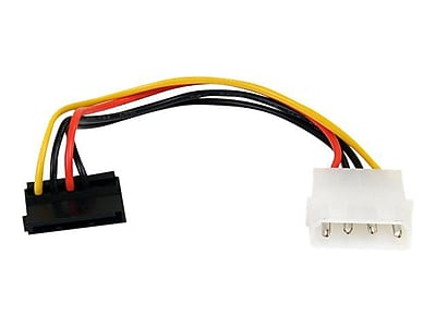 StarTech 6in 4 Pin Molex to Right Angle SATA Power Cable Adapter