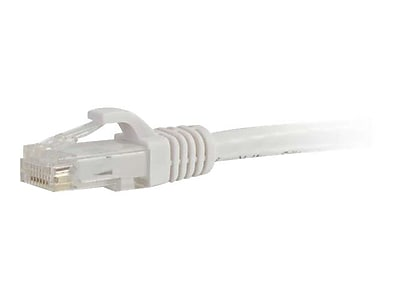 C2G 19479 3 RJ 45 Male Male Cat5e Snagless Unshielded Ethernet Network Patch Cable White
