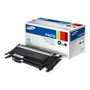 Samsung CLT-P407B Black 3000 Pages Yield Twin Pack Toner for CLP-32x/CLX-318 Series Laser Printer