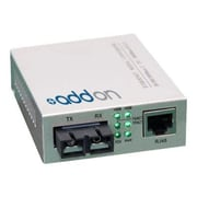 AddOn ADD-GMC-SX-5SC Black Gigabit Ethernet Media Converter