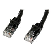 StarTech  N6PATCH3BK Cat6 Patch Cable with Snagless RJ45 Connectors, 3ft, Black