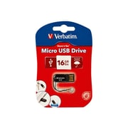 Verbatim ® Store 'n' Go 16GB 10 Mbps Read/4 Mbps Write Micro USB 2.0 Flash Drive, Black (44050)