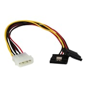 "StarTech  PYO2LP4LSATA 12"" LP4 to 2x Latching SATA Power Y Cable Splitter Adapter, 4-Pin Molex to Dual SATA"