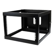 StarTech  6U 22in Depth Hinged Open Frame Wall Mount Server Rack (RK619WALLOH)