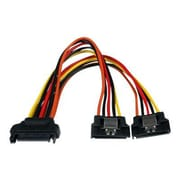"""StarTech  PYO2LSATA 6"""" Latching SATA Power Y Splitter Cable Adapter, M/F"""