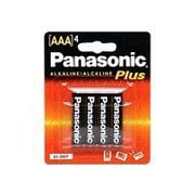Panasonic Alkaline AAA General Purpose Battery Pack (AM-4PA/4B)