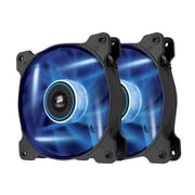 Corsair® Air Series AF120 Quiet Edition High Airflow Cooling Fan, Black with Blue LED, 2/Pack (CO-9050016-BLED)