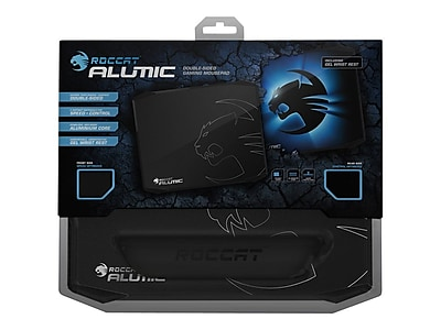 Roccat Alumic Anodized Aluminum\/Gel 10.7 x 13 Black\/Blue Double-Sided Gaming Mouse Pad (ROC-13-400)
