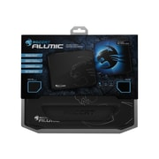 "Roccat® Alumic Anodized Aluminum/Gel 10.7"" x 13"" Black/Blue Double-Sided Gaming Mouse Pad (ROC-13-400)"
