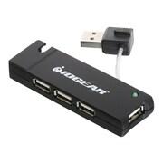 Iogear® 4-Port USB 2.0 Hub, Black