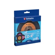 Verbatim ® CD Recordable Media with Digital Vinyl Surface, 700MB, CD-R, 52x, 10/Pack (97935)
