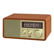 Sangean WR11SE Wooden Table-Top AM/FM Analog Radio, Gold