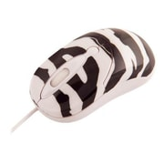 Urban Factory Crazy Mouse USB Wired 800 dpi Optical Mouse, Zebra