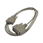 Lantronix® 6' DB9F To DB25M Null Modem Serial Data Transfer Cable