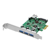 SIIG® Dual Profile PCI Express 4-Port SuperSpeed USB 3.0 Host Adapter, Green