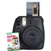 Fujifilm Instax Mini 8 Camera with 10 Exposures, Black