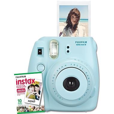 Fujifilm – Appareil photo Instax Mini 8 avec 10 poses, bleu