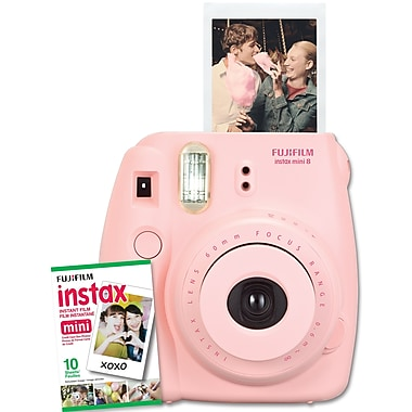 Fujifilm Instax Mini 8 Camera with 10 Exposures, Pink