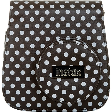 Fujifilm Instax Mini 8 Groovy Case, Black/White Polka Dot