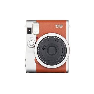 Fujifilm Instax Mini 90 Camera with 10 Exposures, Brown
