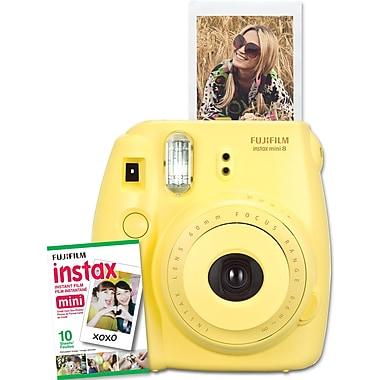 Fujifilm Instax Mini 8 Camera with 10 Exposures, Yellow