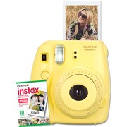 Fujifilm Instax Mini 8 Camera with 10 Exposures, Yellow