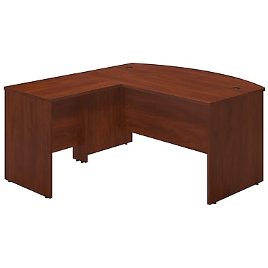 Bush® Business Westfield Elite 60W x 36D Bowfront Desk Shell with 30W Return, Hansen Cherry