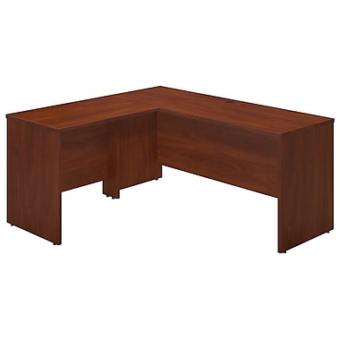 Bush® Business Westfield Elite 66W x 24D Desk Shell with 36W Return, Hansen Cherry