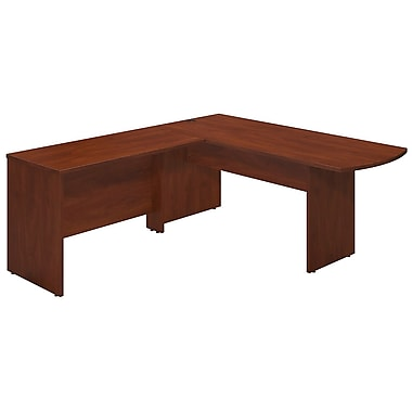 Bush® Business Westfield Elite 72W x 30D Peninsula Desk Shell with 48W Return, Hansen Cherry