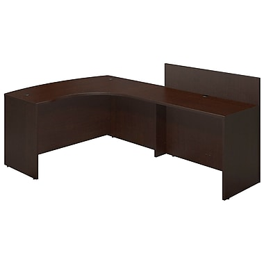 Bush® Business Westfield Elite 60W x 43D Right Hand Bowfront Desk Shell with 48W Privacy Return, Mocha Cherry