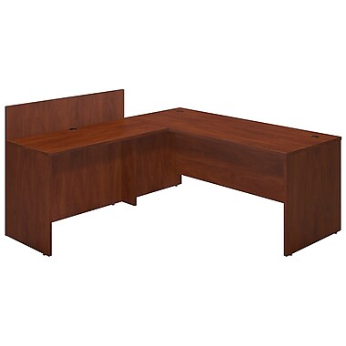 Bush® Business Westfield Elite 72W x 30D Desk Shell with 48W Privacy Return, Hansen Cherry