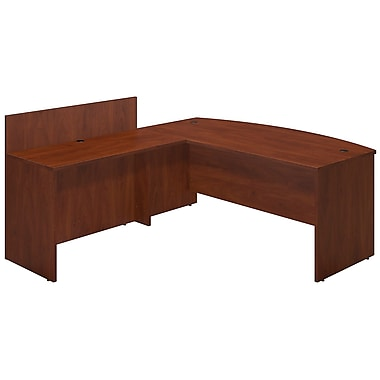 Bush® Business Westfield Elite 72W x 36D Bowfront Desk Shell with 48W Privacy Return, Hansen Cherry