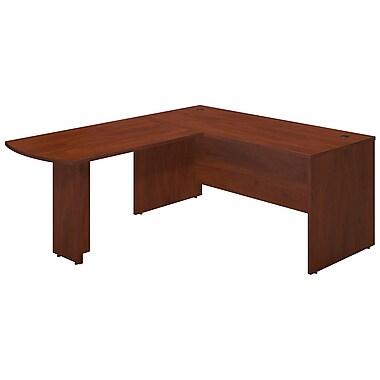 Bush® Business Westfield Elite 66W x 30D Desk Shell with 48W Peninsula Return, Hansen Cherry