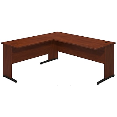 Bush® Business Westfield Elite 72W x 30D C Leg Desk with 42W Return, Hansen Cherry