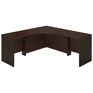 Bush® Business Westfield Elite 42W x 42D Corner Desk Shell with (2) 30W Returns, Mocha Cherry