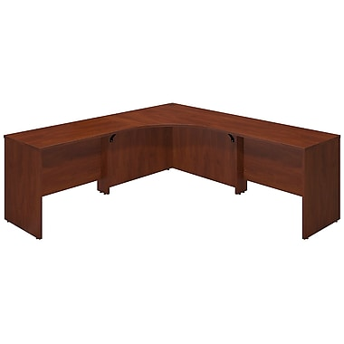 Bush® Business Westfield Elite 42W x 42D Corner Desk Shell with (2) 42W Returns, Hansen Cherry