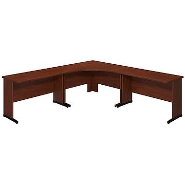Bush® Business Westfield Elite 48W x 48D C Leg Corner Desk with (2) 48W x 24D Desks, Hansen Cherry