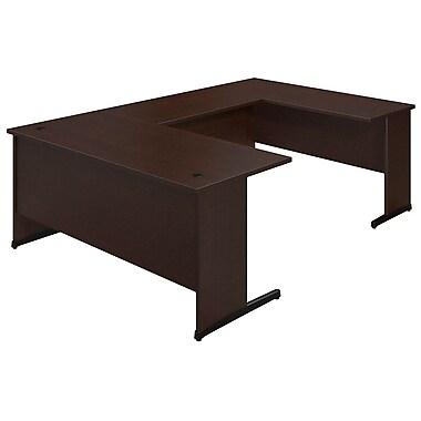 Bush® Business Westfield Elite 66W x 30D C Leg U Station Desk, Mocha Cherry