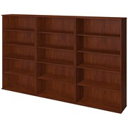 Bush Business Westfield Elite 66H Bookcase Storage Wall, Hansen Cherry