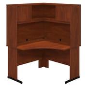 Bush Business Westfield Elite 48W x 48D C-Leg Corner Desk with Hutch, Hansen Cherry