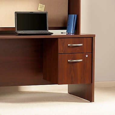 Bush® Business Westfield Elite 66W x 24D Desk Shell with Two 3/4 Pedestal, Hansen Cherry