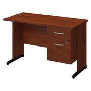 Bush Business Westfield Elite 48W x 24D C-Leg Desk with 3/4 Pedestal, Hansen Cherry, Installed