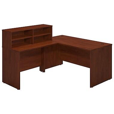 Bush® Business Westfield Elite 60W x 30D Reception L Desk, Hansen Cherry