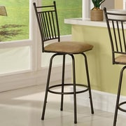 Linon 30'' Swivel Bar Stool with Cushion (Set of 3)