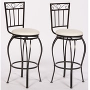 TMS Gabriella 30'' Swivel Bar Stool with Cushion (Set of 2)