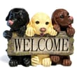 CAP Lighting Welcome Dog Sign