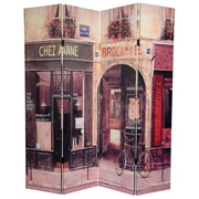 Oriental Furniture 72'' x 48'' Double Sided Brasserie 3 Panel Room Divider