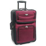 Traveler's Choice Amsterdam 29'' Expandable Rolling Upright in Burgundy