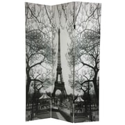 Oriental Furniture 72'' x 48'' Double Sided Paris 3 Panel Room Divider